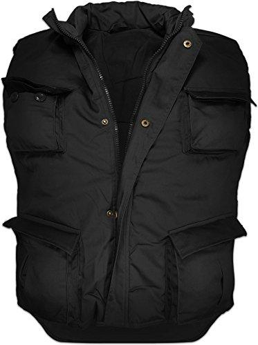 Outdoor Weste mit vielen Taschen in verschiedenen Tarnfarben, gefüttert [S-6XL] Farbe Schwarz Größe XL