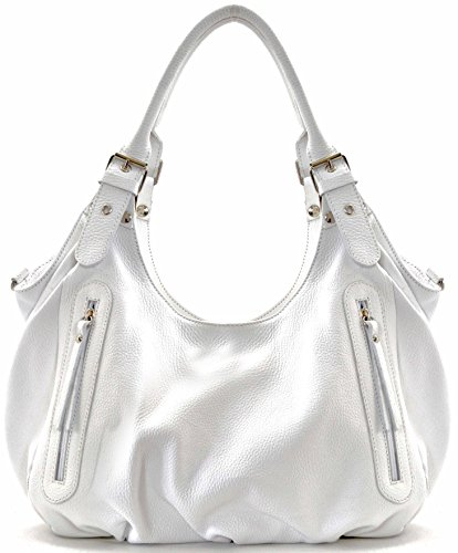OH MY BAG Sac à Main femme porté épaule en cuir italien - Modèle St trop' - nouvelle collection 2018