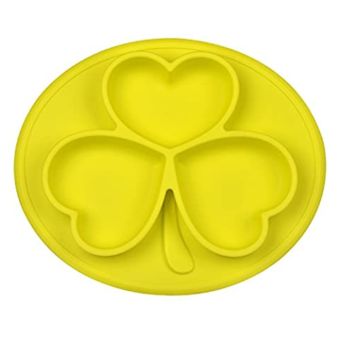 Silicone Placemat Bowl, No Spill, Strong Suction, Non-Skid Food Grade Silicone, BPA Free and FDA Approved, Great for Infants, Toddlers, Kids and Small Pets (Yellow)