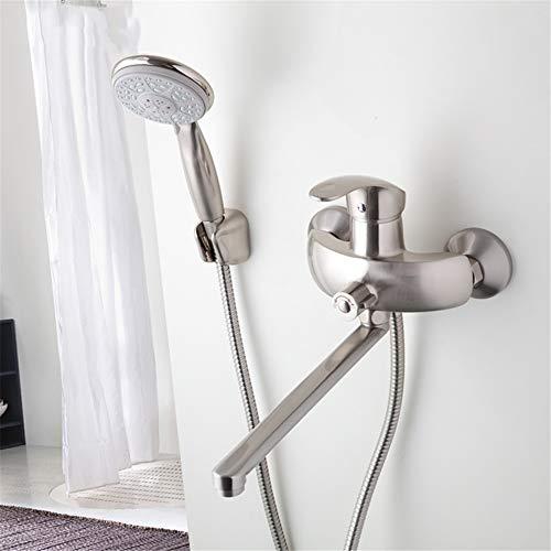 Gemischter Körper-typen (Nickel gebürstet Bad Dusche Wasserhahn Messing Körper gemischt heißes und kaltes Wasser Wasserhähne Abs Duschkopf Auslassrohr)