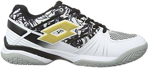 Lotto Esosphere Alr W, Chaussures de Tennis Femme Noir (Blk/Gld Str)