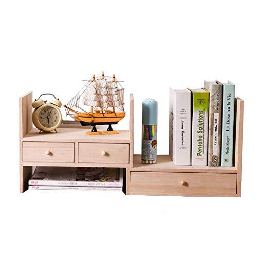 3-schubladen-desktop (Haoli-sj Desktop-Aufbewahrungsbox Naturholzböden mit DREI Schubladen Büro und zu Hause, skalierbare und einstellbar)