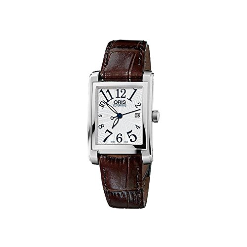ORIS WOMEN'S BROWN LEATHER BAND STEEL CASE AUTOMATIC WATCH 56176564061LS