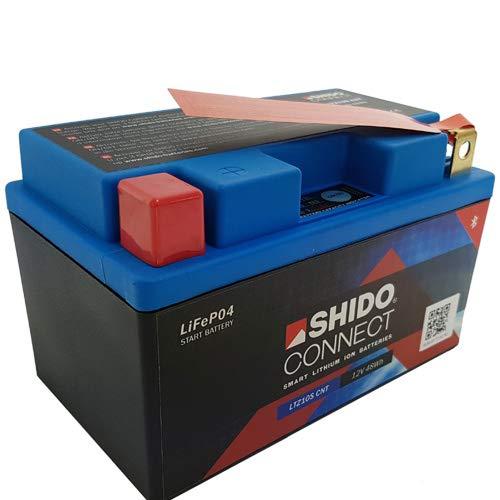 Batteria Shido Connect al litio LTZ10S CNT / YTZ10S, 12 V/8,6 AH (dimensioni: 150 x 87 x 93)
