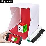 Photo box Masrou Shooting Tent Fotostudio Set mit LED Leuchte, Light box 30x31x31cm, mit 4 verschiedenen Hintergründen /Photo Studio Tent(weiß, schwarz, blau, grün)