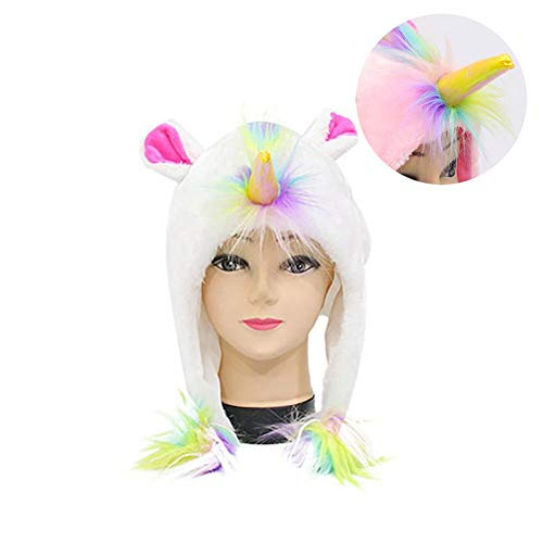Unisex Einhorn Pluschhut Cosplay Partei-Snowboarding-Hut Einhorn-Kostüm-Party Supplies Unicorn Plüsch-Hut Für ()