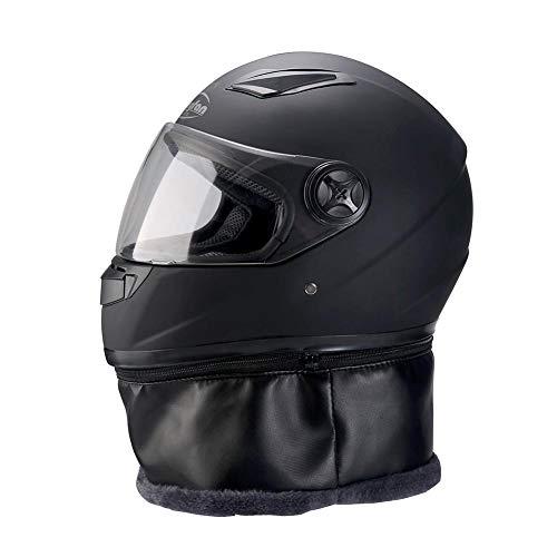 Beenzy casco moto integrale,casco anti-nebbia casco elettrico auto winter locomotiva casco caldo per sport all'aria aperta