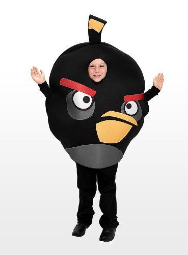 Angry Birds - Kinderkostüm - Schwarz - (Bird Schwarze Angry Kostüm)