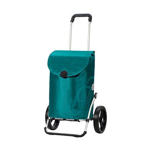 Andersen Shopper Royal 3-Speichenrad mit Tasche Pepe 39 Liter türkis