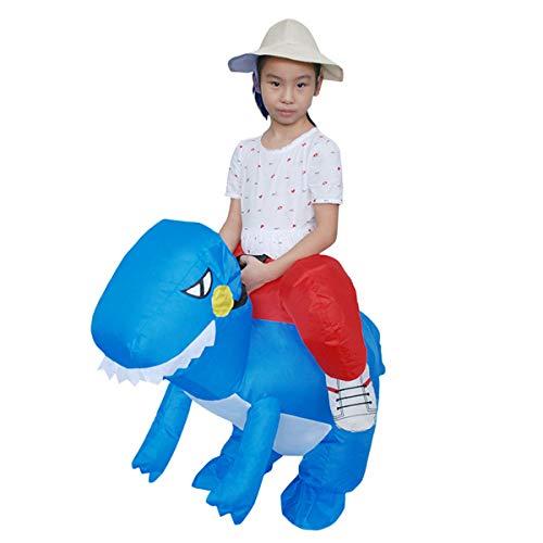 unbrand Erwachsener Kinderdinosaurier-aufblasbares Kostüm-Pferd und Cowboy-aufblasbarer Abendkleid-Anzug Halloween-Explosion Kostüme