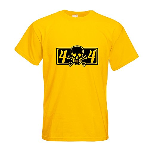 KIWISTAR - 4 x 4 Allrad T-Shirt in 15 verschiedenen Farben - Herren Funshirt bedruckt Design Sprüche Spruch Motive Oberteil Baumwolle Print Größe S M L XL XXL Gelb