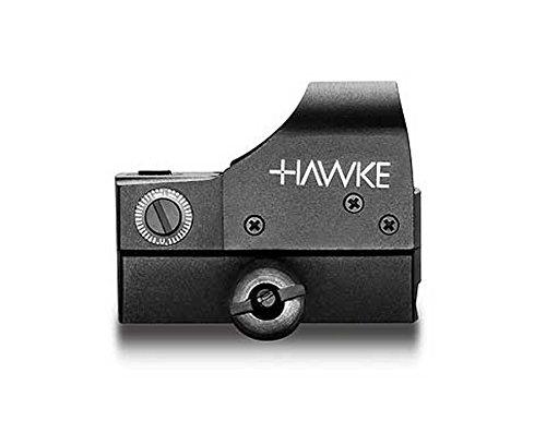 Hawke Reflexvisier 1x25 ideal für Kurzwaffen oder Drückjagd, 12131 Zielfernrohr, Schwarz, M