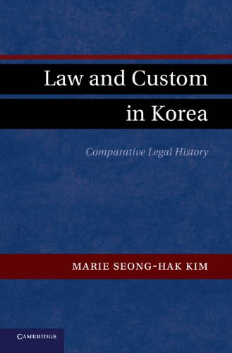 Law and Custom in Korea: Comparative Legal History