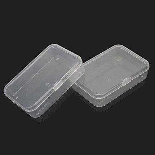 Pinzhi 2pcs plastic transparent clear storage box for Plastic craft boxes with lids