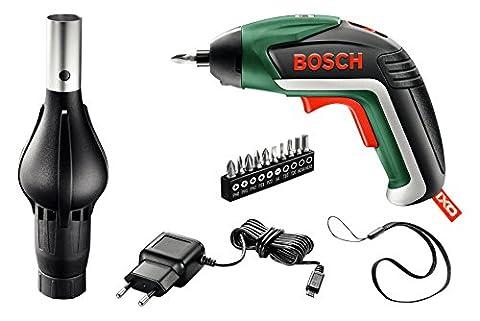 Bosch Visseuse sans fil IXO Barbecue, embout BBQ, batterie Lithium 3,6V 1,5Ah, chargeur USB, coffret métallique 06039A800G