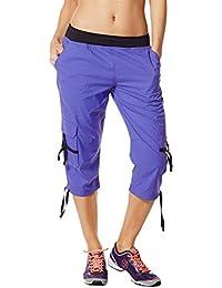 Zumba Fitness WB Oh So Soft Pantalon cargo Capri extensible