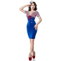 Belsira Pencil Vestido look chica de la Armada, azul