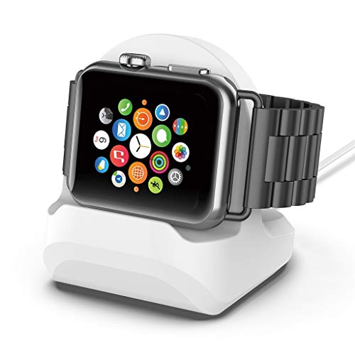 Webla - Soporte base carga silicona Apple Watch Series
