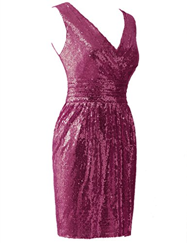 HUINI Damen Kleid Violett