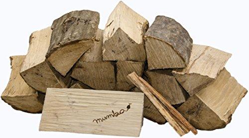 30kg mumba® Brennholz Buche 33cm Kaminholz ofenfertig mit 3 Kienspänen Muster