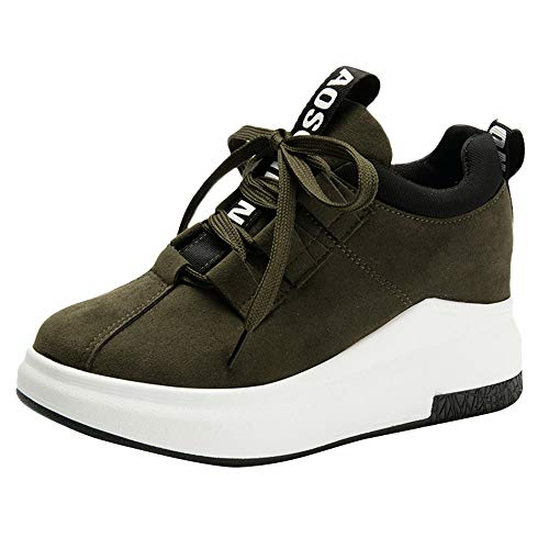 VECDY Damen Sneakers,Weihnachten Geschenke- Herbst Lässige hohe Sneakers -