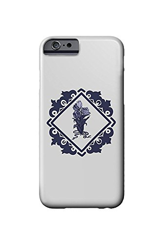 Delft Tulips and Border (iPhone 6 Cell Phone Case, Slim Barely There) - Delft Tulips