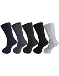 RC. ROYAL CLASS Men's Calf Length Cotton Diabetic Health Multicolored Socks (Pack of 5 Pairs)
