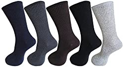 RC. ROYAL CLASS Calf Length Health/Diabetic Cotton Socks For Men in Assorted Colors (Pack of 5)