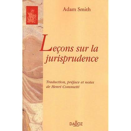 Leçons sur la jurisprudence: 1re traduction française de l'anglais