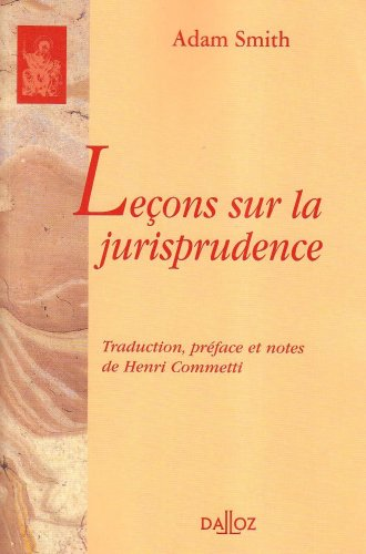 Leçons sur la jurisprudence par Adam Smith