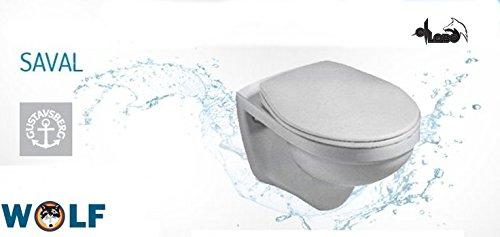 Clivia Villeroy&Boch Wand WC Tiefspüler Saval manhattan grau, Gustavsberg + WC Sitz
