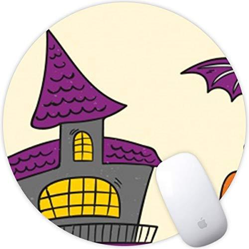 Weneth Runde Mauspad Cooles Gaming Mousepad Rutschfest Mausunterlage Gummi Ränder Mauspad für Laptop & Reise-Halloween Rip Candy