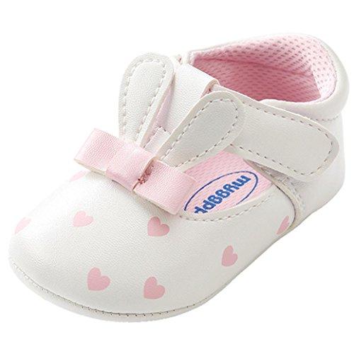 manadlian Chaussures Bébé Chaussures bébé Fille Lapin Oreilles Mode Toddler Premiers Marcheurs