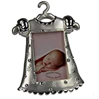 Baby Girl Dress Silver Plated Photo Frame