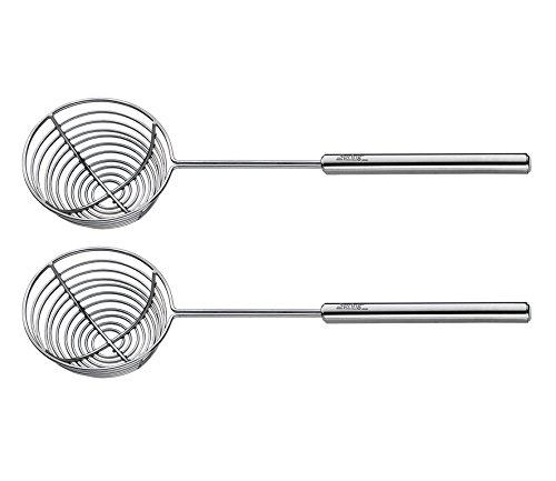 Spring 2698310602 Fondue-Siebchen Profi 2 Stück, Edelstahl, silber, 3,6 x 11,6 x 24,2 cm