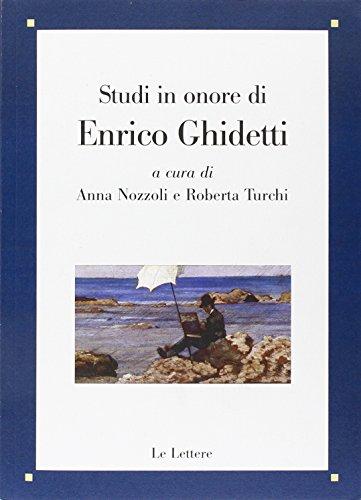 Studi in onore di Enrico Ghidetti