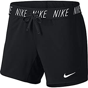 Nike Damen Attack Shorts, Grau (Black/White/010), Gr. S