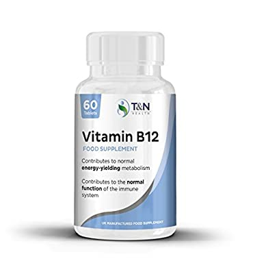 Vitamin B12 Tablets - Suitable for Vegetarians and Vegans Requiring B12 Supplementation - Supports Proper Functioning of Red Blood Cells and Nervous System by TN Health