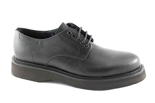 FRAU 74X5 asterix eva nero scarpe uomo derby liscio pelle lacci 45