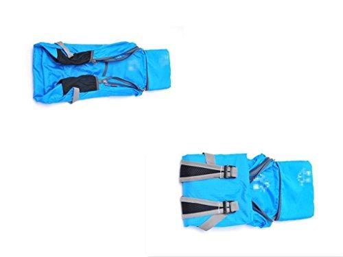 Può Ospitare Spalla Pieghevole Sacchetto Impermeabile Alpinismo All'Aperto Zaino Da Viaggio , red blue