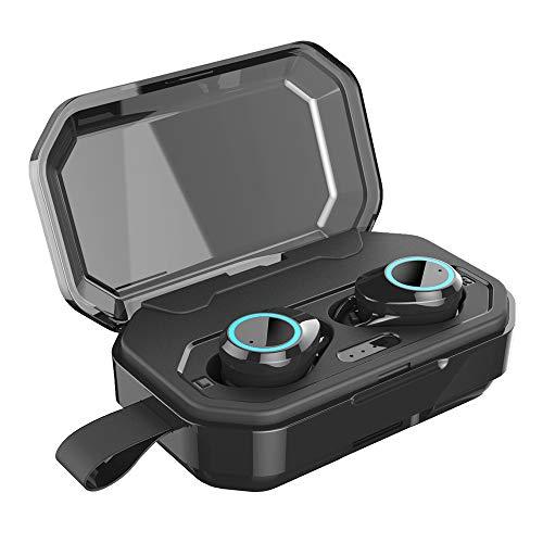 Cuffie Bluetooth, Auricolari Wireless con Scatola Ricarica 3000mAh, Cuffie Wireless TWS Sport con Cancellazione del Rumore, In Ear Auricolari Bluetooth Stereo con Doppie Microfono per IOS e Android