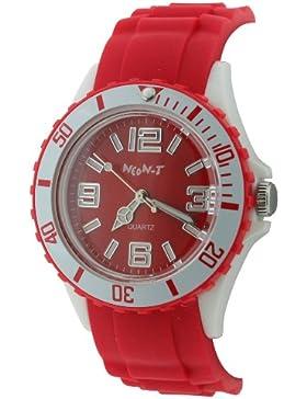 Neon T Damen Armbanduhr Women'mit rotem Zifferblatt Analog-Anzeige und rote, NE55/B