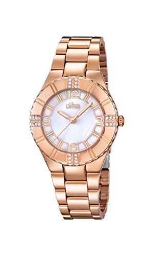7d70fd7c38b6 Lotus 0 - Reloj de cuarzo para mujer, con correa de acero inoxidable, color  dorado de Lotus