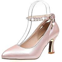 ZHZNVX Chaussures Femmes de Confort d'été PU Sandales Talon pour Noir/Kaki,Kaki,US6/EU36/UK4/CN36