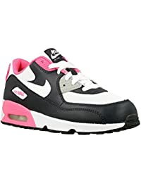 Nike Air Max 90 Mesh (PS), Zapatos de Primeros Pasos para Bebés, Negro (Negro (Anthracite / White-Hyper Pink)), 29.5
