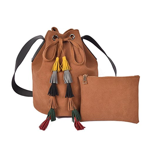 Bluester-Women-Fashion-Tassel-Lady-Leather-Handbag-Shoulder-Bag-Messenger-Bucket-Bag