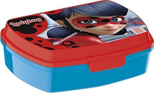 Contenitore porta pranzo miraculous ladybug marinette lunch box bambini colazione plastica