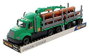Polesie 58539 Mike, Camión de Madera con Bandeja de Remolque - Vehículos de Juguete