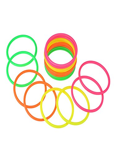 Shappy 16 Stück Kunststoff Mehrfarbige Toss Ringe Wurfringe für Geschwindigkeit und Agility Spiele, 4 Farben zur Verfügung Gestellt (4 Zoll)