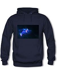 Women's Cat Galaxy Hoodie Astro Space Animal Face Cosmic Hooded Sweatshirt